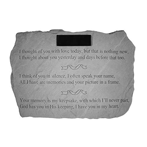 """I Thought Of You With Love..."" PERSONALIZED Memorial Stone for sale"