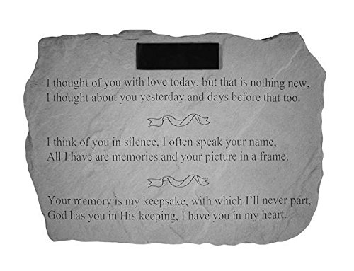 """I Thought Of You With Love…"" PERSONALIZED Memorial Stone For Sale"