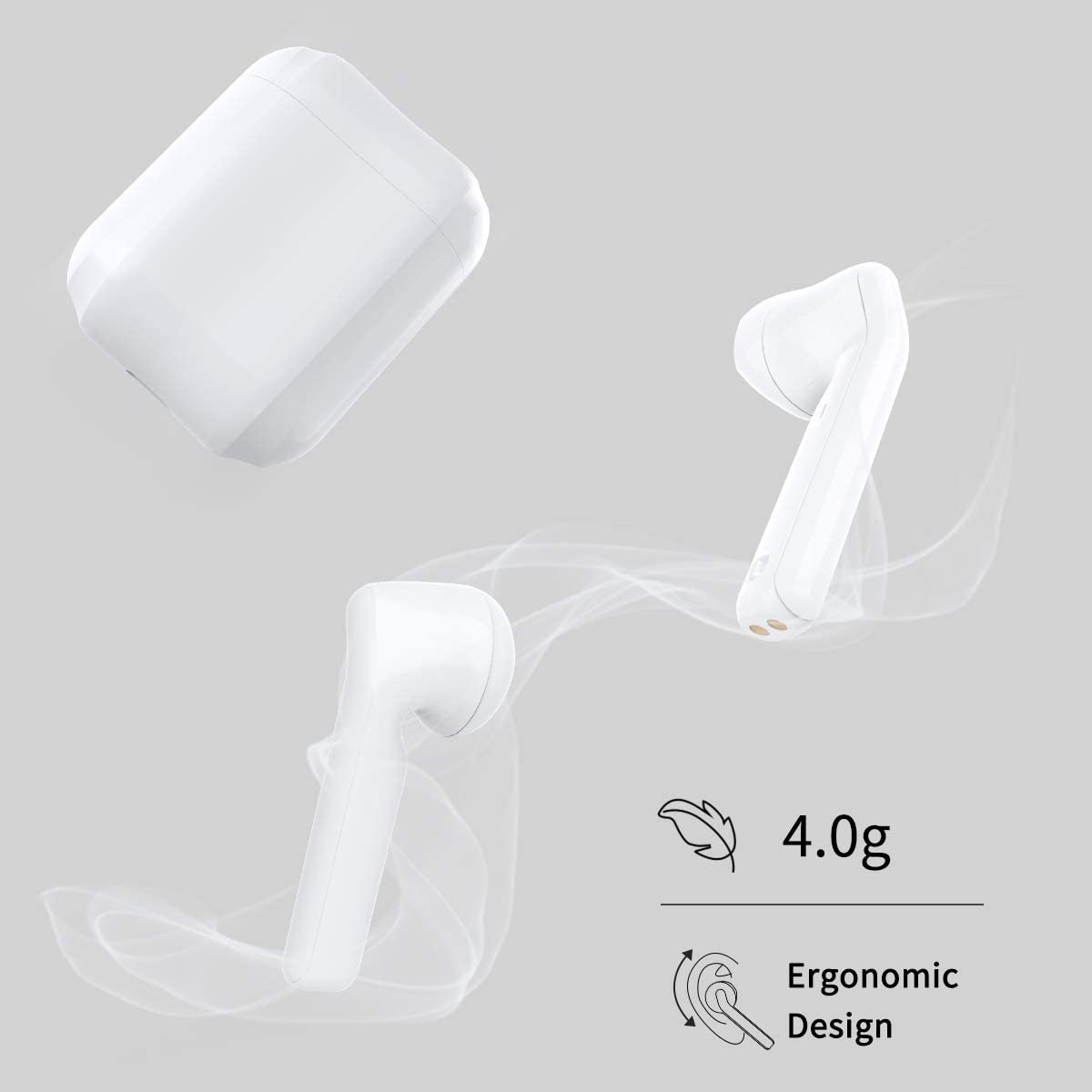 Bluetooth Earbuds Wireless Earbuds Bluetooth Headphones Earphones with 30H Playtime HiFi 3D Stereo Sound,IPX5 Waterproof Built-in Mic Earphones CVC8.0 Apt-X with Charging Case for Sports