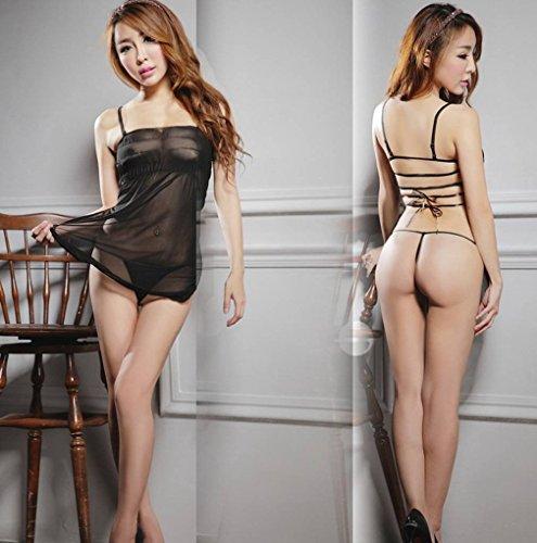 Xiang Ru Des Femmes De Sous-vêtements En Dentelle Lingerie Vêtements De Nuit Nuisette Maille S Vêtements De Nuit: Noir