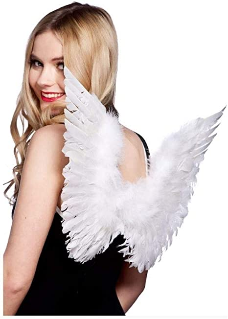 Wicked Costumes Small Feather wings Black Fancy Dress Adult one size