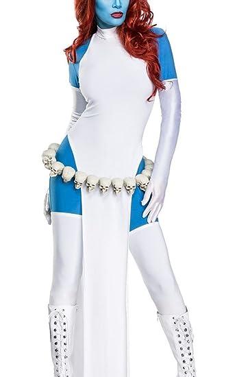 Damen Cosplay Priesterin Fantasy Kostüm Overall Verkleidung Aus