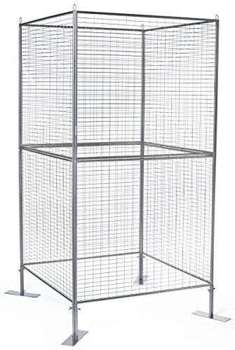 Displays2go Wire Grid Panel for Artwork, Iron Metal Construction, Powder Coated – Silver Finish (AD4PNLS) by Displays2go (Image #7)