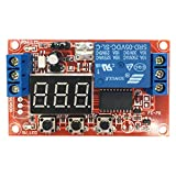 Onyehn 5V Multi-Function Digital Display Adjustable Power Cycle High and Low Trigger Pulse Time Delay Relay Module Board