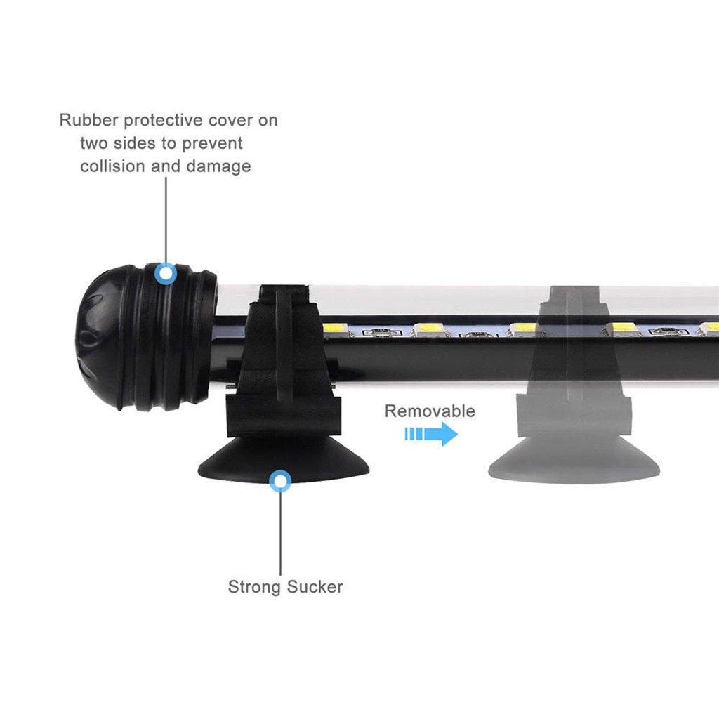 Blanco Azul B Blesiya Luz de Acuario LED L/ámpara de Tanque de Peces para Decoraci/ón e Iluminaci/ón 37cm