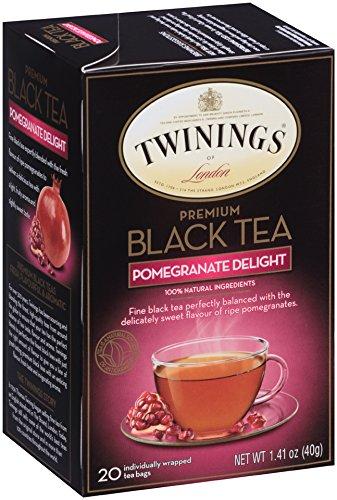Twinings of London Premium Black Tea Pomegranate Delight, 20 Count (Pack of 6) (Tea Pomegranate Black)