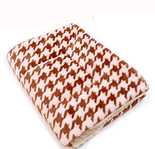 CoCocina Colorful Warm Dog Cat Blankets Pet Sleep Mat Pad Bed Cover Soft Flannel Blanket for Kitties Puppies and Other Small Animals-Lattice-S