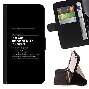 Momo Phone Case / Flip Funda de Cuero Case Cover - Esto se supone que ser el futuro - Apple Iphone 5 / 5S