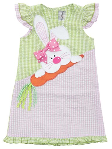 Rare Editions Easter Dress (Rare Editions Toddler Girls Seersucker Easter Bunny Dress (2t-4t) (2t/2))