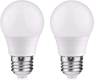 LED Light Bulbs 25 Watt Equivalent, Warm White 2700K E26 Medium Base, 3W LED Energy Saving Screw Base Light Bulbs for Home Refrigerator Light Bulb (2 Pack)