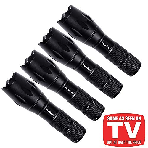 Tactical Pro Electronic - YAOMING LED Tactical Flashlight Ultra Bright LED Pro Taclight As Seen On Tv (4 Pack)