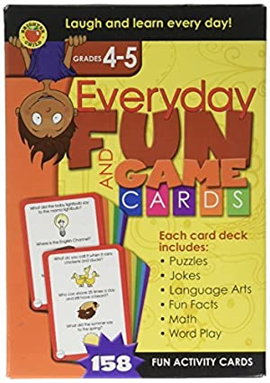 Brighter Child Everyday Fun and Game Cards Grades 4 - 5 Flash Card by Brighter Child