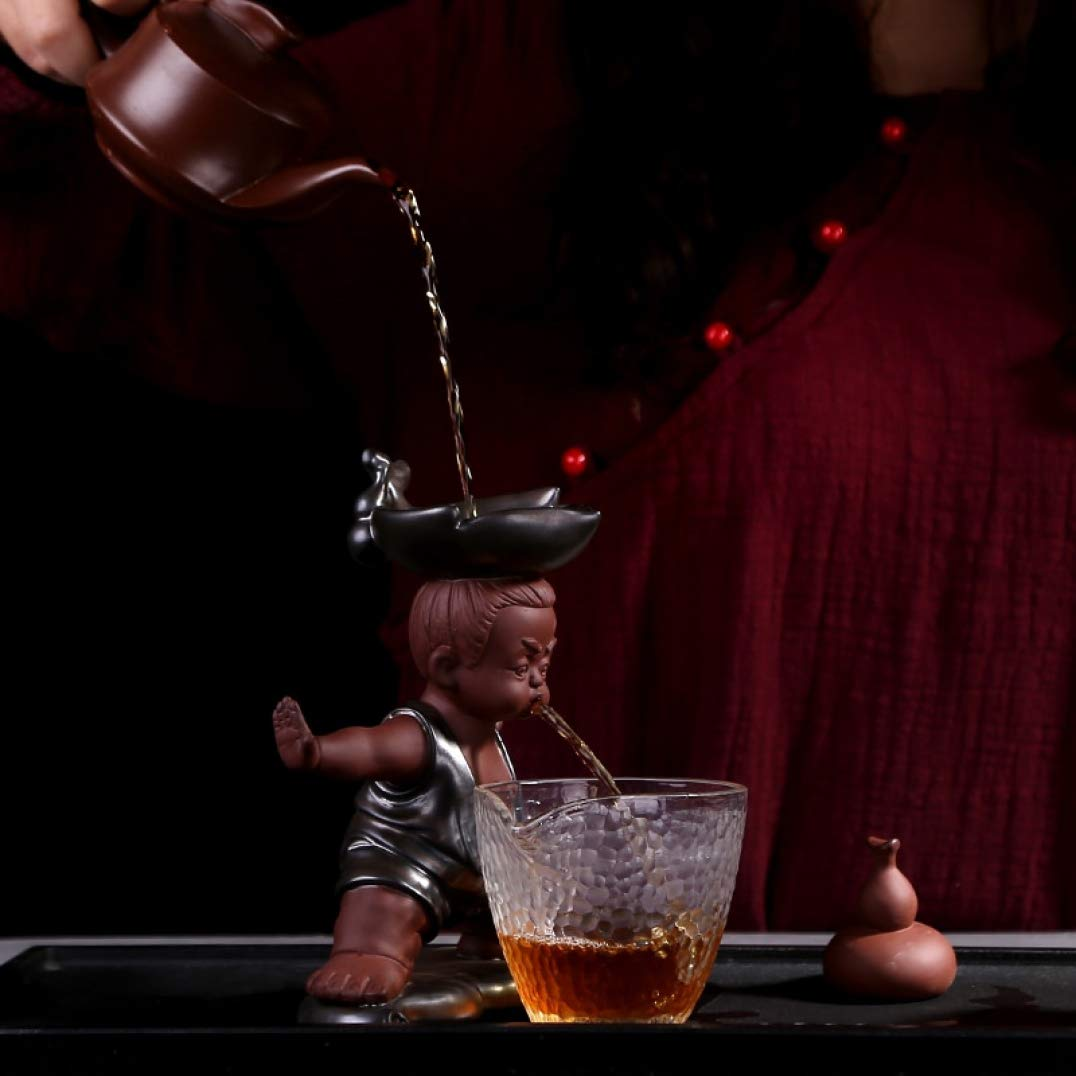 Creative Tea Filter Leak Cute King Kong Gourd Purple Sand Tea Pet Tea Accessories for Home Decor Gift for Tea Lover by BERTERI (Image #2)