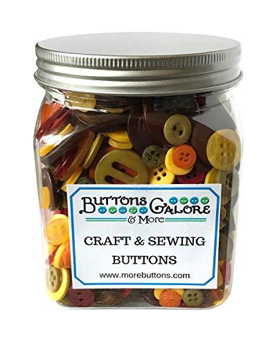 Buttons Galore Autumn Cookie Jar Buttons, Multicolor ()