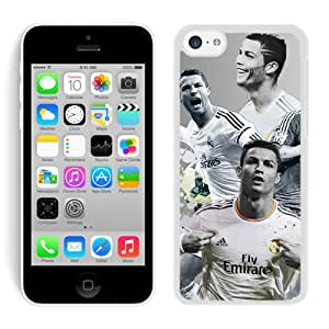 Hot Sale 5C Case,Cristiano Ronaldo 1 White iPhone 5C Screen Phone Case Custom and Fashion Design