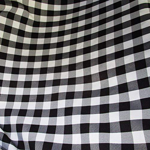 Black Tablecloths Premier - luvfabrics 5 Yards Checker Fabric 60