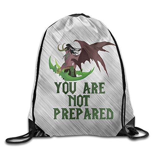 Illidan Stormrage World Of Warcraft Sport Backpack Drawstring Print Bag