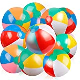 Coogam Inflatable Beach Ball Classic Rainbow Color Birthday Pool Party Favors Summer Water