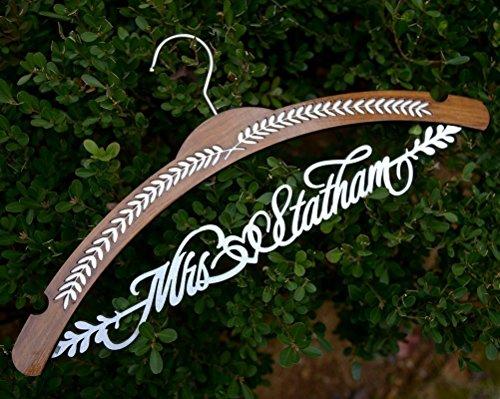 - Arch shape wedding dress hanger, personalized bridal dress hanger, bridal shower gift JJ020