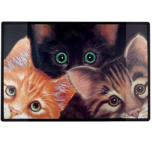 [Home Gift & Decor Peeping Toms Cat Cats Kitten Porch Doormat Door Mat] (Kitten Bear Costume)
