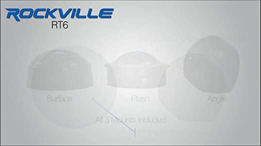 Rockville RT6 Pair 1-Inch Silk Dome Neo Swivel Tweeters 240 Watts Peak//60w RMS CEA-Set of 2