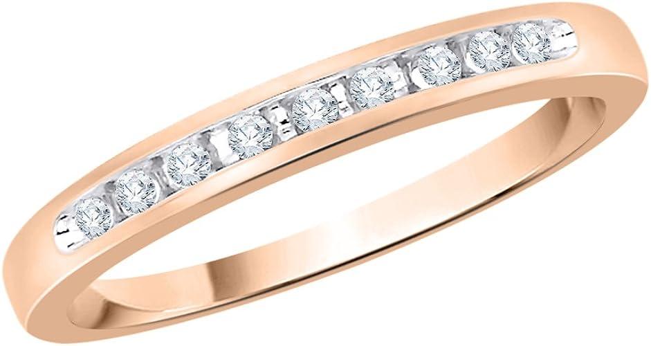 1//10 cttw, G-H,I2-I3 Diamond Wedding Band in 10K White Gold Size-13