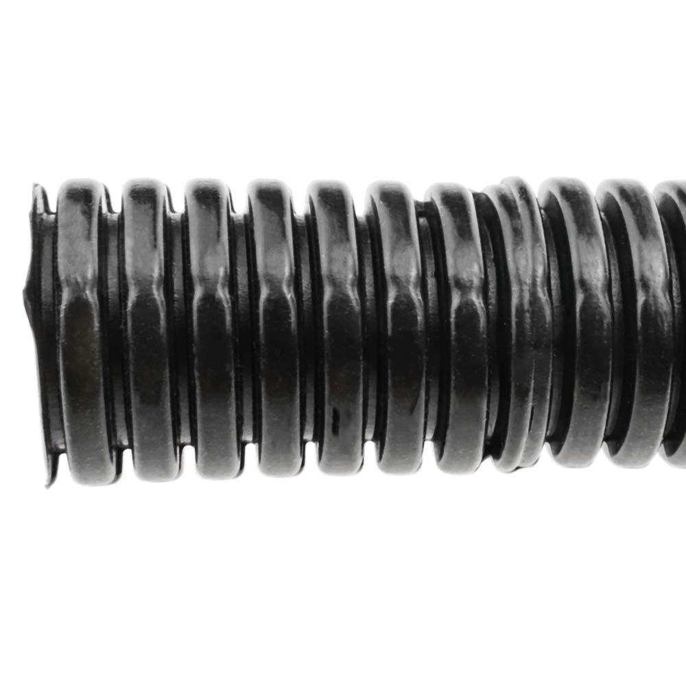 BeMatik Gaine annel/ée Fendue Buse de Protection des c/âbles Tube Flexible ondul/é pour int/érieur M-16 11mm 10m