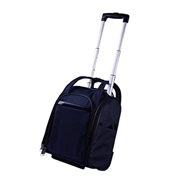 Bolsos Ligeros de Viaje pequeños con Ruedas de Viaje Bolsos de Mano HandbagTrolley Travel Luggage FENGMING (Color : Azul Oscuro, Tamaño : 31 * 21 * 37cm): ...