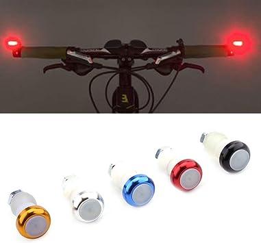 VGEBY 2Pcs Tapones Manillar con Luz Intermitentes para Bicicleta ...