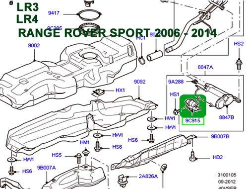 Genuine LAND ROVER FUEL VALVE LEAK DETECTOR LR3 LR4 RANGE ROVER LR2 SPORT EVOQUE DISCOVERY SPORT NEW DISCOVERY WTR500030