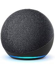 Nya Echo Dot (4:e generationen) Internationell version   Smart högtalare med Alexa   Grafitgrå   Svenskt språk ej tillgängligt