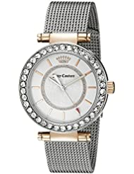 Juicy Couture Womens 1901375 Cali Analog Display Japanese Quartz Silver-Tone Watch