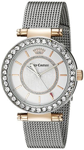 Juicy Couture Women's 1901375 Cali Analog Display Japanese Quartz Silver-Tone Watch by Juicy Couture