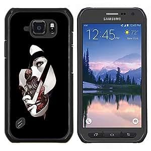 """Be-Star Único Patrón Plástico Duro Fundas Cover Cubre Hard Case Cover Para Samsung Galaxy S6 active / SM-G890 (NOT S6) ( Face Off Robot Chica"""" )"""