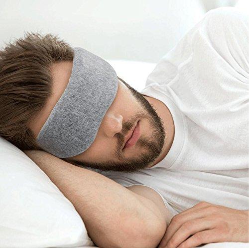 Natural Silkworm Sleep mask, Eye mask mask, Sleep Eye mask, Light and Comfortable, Super Soft, Adjustable 3D Contour Eye mask, Sun Visor, Suitable for Travel/snoring/Sleep(Light Grey)