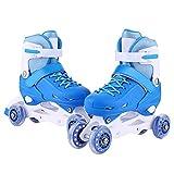 ANCHEER Inline Roller Skates Boys/Girls Adjustable Rollerblades Inline Quad Skates Outdoor Size 2 3 4