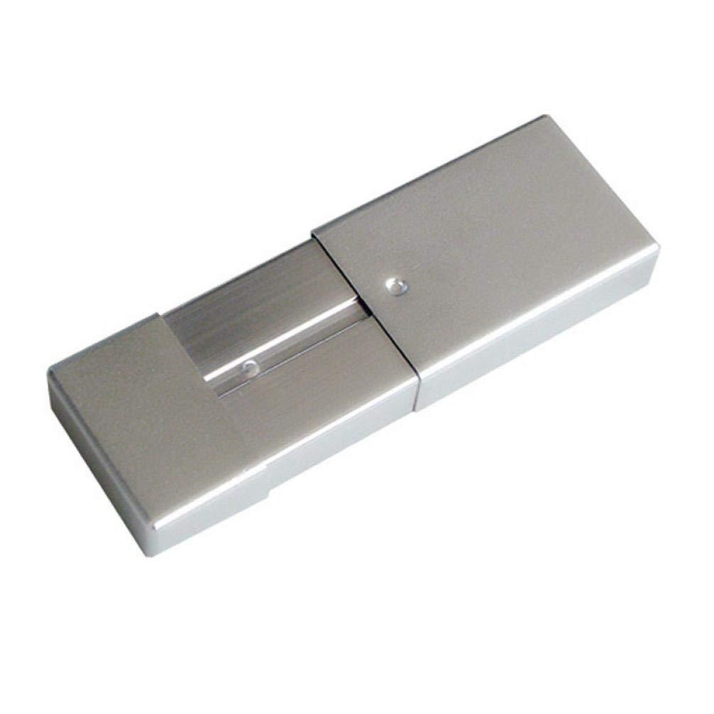 1pc Aluminium Rauchen Aschenbecher-Halter-Kasten-Aufbewahrungsbeh/älter Ash Organizer Mini bewegliche Taschen-Aschenbecher Zigarre Zigarette Ash-Halter