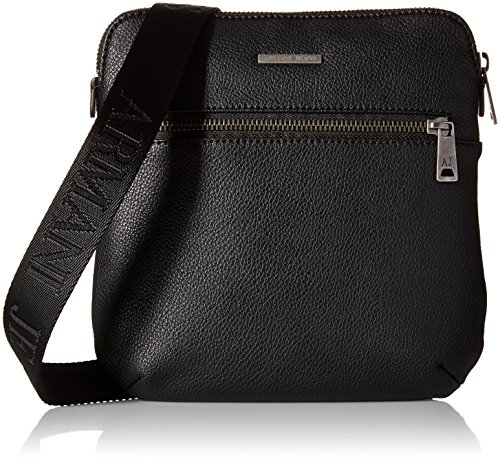Armani Jeans Men's Clean Small PU Shoulder Bag, (Armani Shoulder Bag)