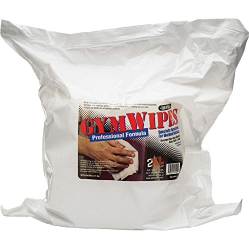 2XL TXL-38 Antibacterial Gym Wipes Refill, Unscented, White by 2XL