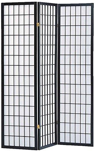 - Milton Greens Stars 7034BK 3-Panel Sam Room Divider, Black