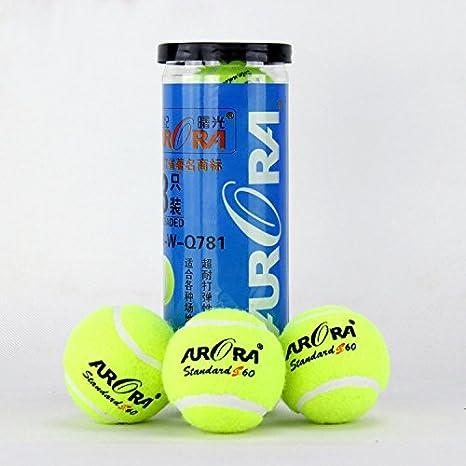 Pack de 3 Balones de Tenis de Resistencia de Alto Rebote Juego de  Entrenamiento de Deportes Tennies de Caucho Bolas  Amazon.es  Deportes y  aire libre d0622510b66b8