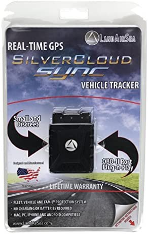 No Monthly Fee – LandAirSea Sync Real Time 4G LTE GPS Tracker for Vehicles OBD Tracking Device for Cars, Trucks or Fleets, 1 Year Data Plan Included