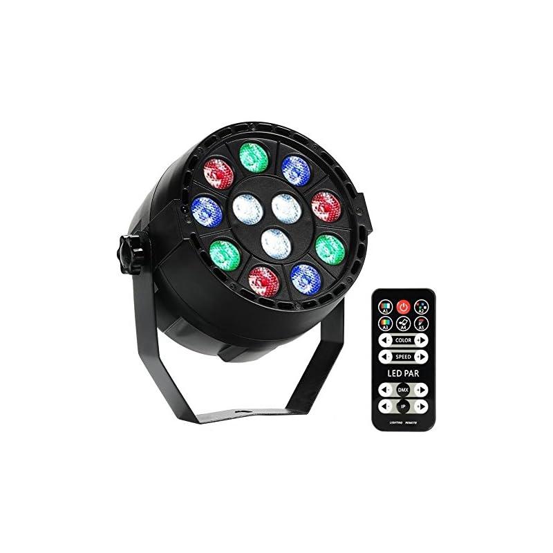 LUNSY 12 LED Par Lights RGB Colorful Mul
