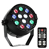 LUNSY 12 LED Par Lights RGB Colorful Multi Lighting Modes Stage Lights
