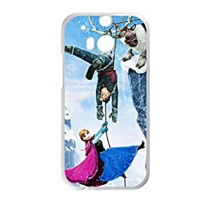 DAZHAHUI Frozen Princess Anna Kristoff Olaf Sven Cell Phone Case for HTC One M8