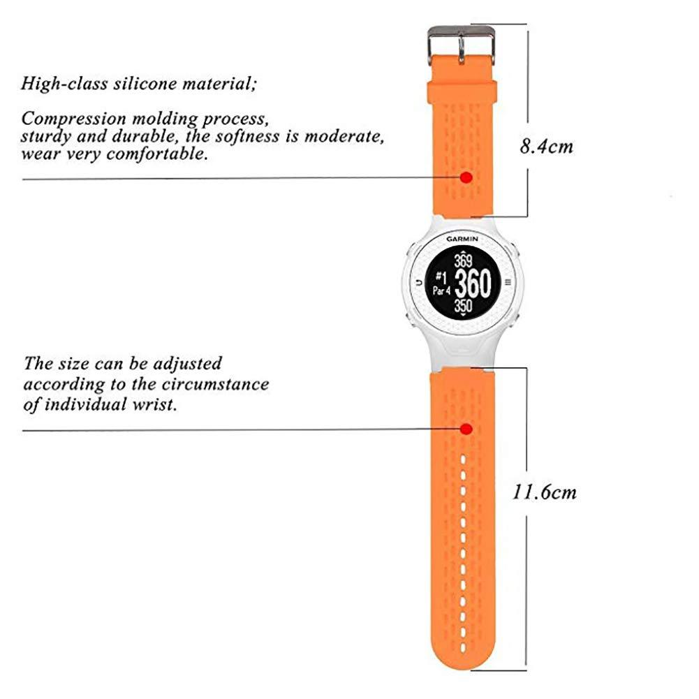 vimbhzlvigour Cinturino di Ricambio per smartwatch Garmin Approach S2//S4