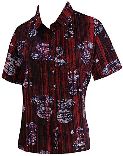 La Leela Cotton spring printed matching Hawaiian plain Regular fiesta girls Aloha Women's Hawaiian Shirt M Pink Fathers Day Gifts Spring Summer 2017