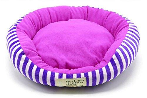 Purple M Purple M SENERY Dog Bed House Durable Soft Pet Puppy Cat Dog Mat Princess Style Warm Kennel Comfortable Mat