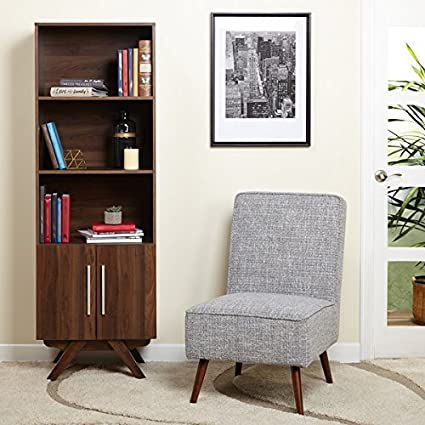 Simple Living Ashfield Bookcase L Open Display Space And Large Cabinet