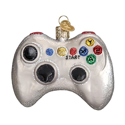 Old World Christmas Glass Blown Ornament with S-Hook and Gift Box (Video Game Controller) (Best Halloween Movies For All Ages)